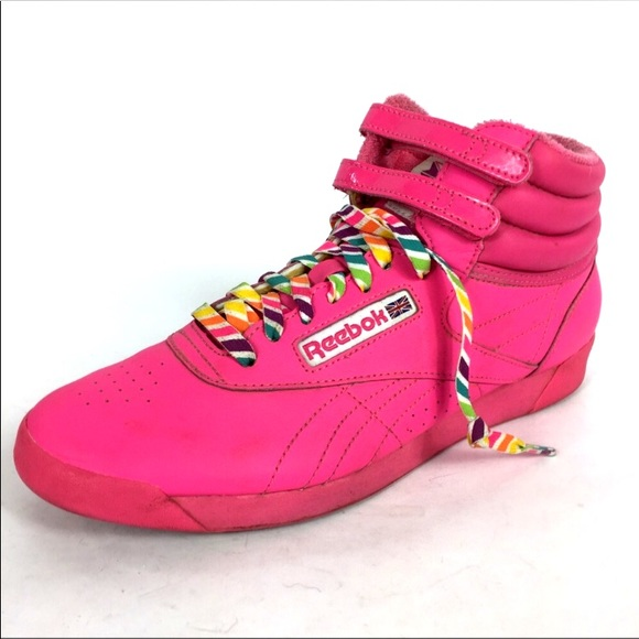 Reebok Hot Pink Freestyle Classic 30 Reign Bow